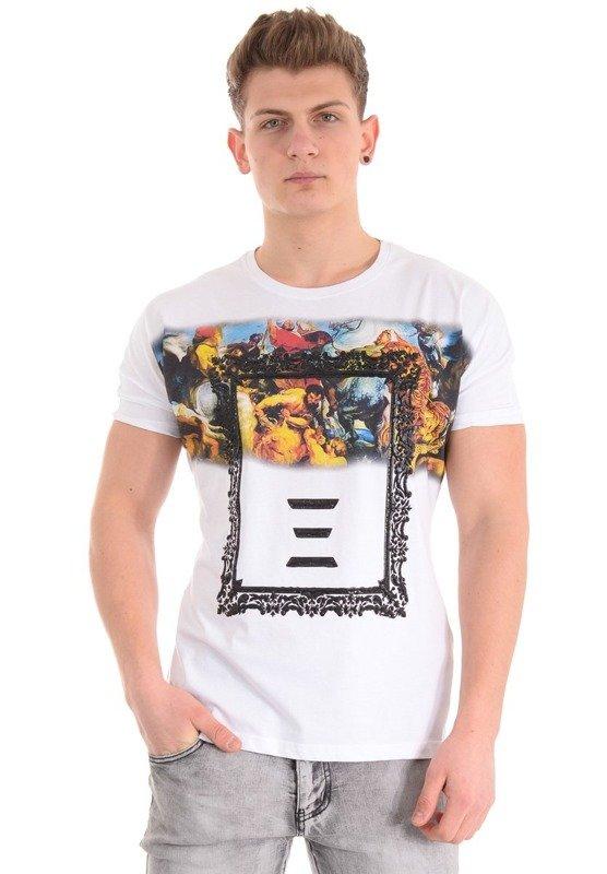 Męska Koszulka T-shirt Basic Gładka Czarna