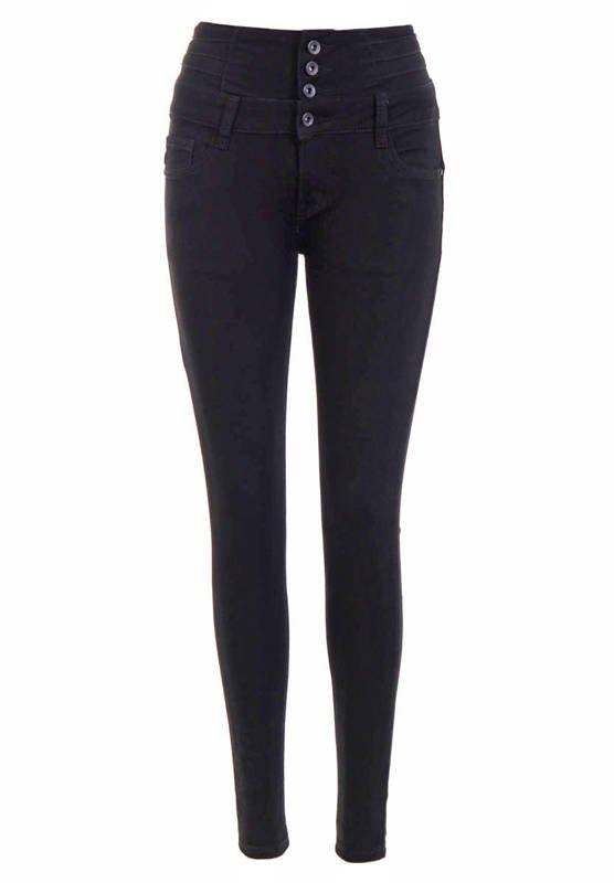 Spodnie Damskie Jeansowe Czarne D3376