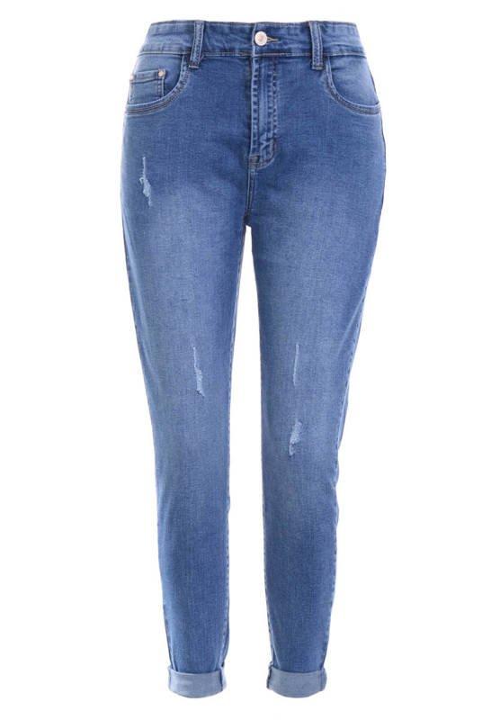 Spodnie Damskie Jeansowe Niebieskie BY845